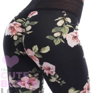 Black Floral Legging